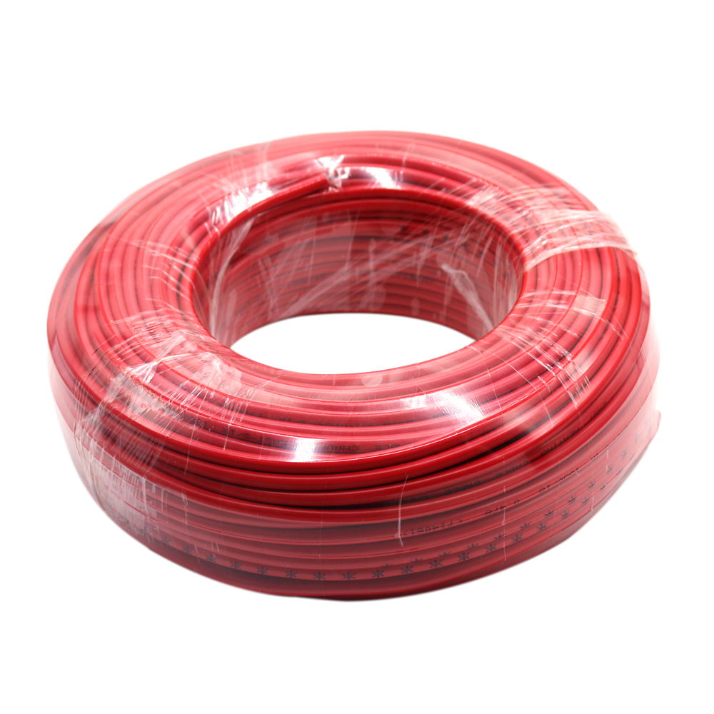 Single conductor electric heating cable for floor heating